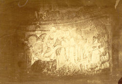 AD 1107, Fresco Painting In A Chapel In The Crypt Under S. Anselm's Tower